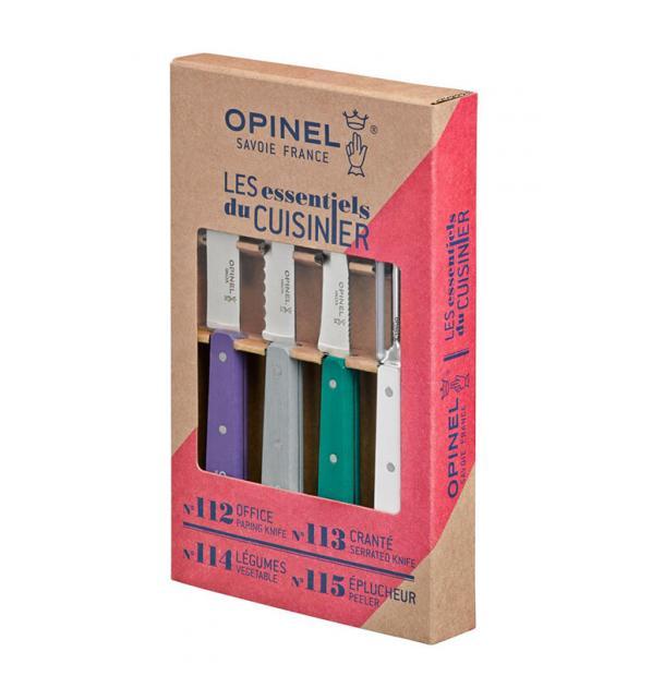 Набор из 4 ножей Opinel Art Deco 4 Essentials Knives Box Set