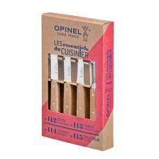 Набор из 4 ножей Opinel Natural 4 Essentials Knives Box Set
