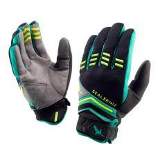 Перчатки водонерпоницаемые SealSkinz Dragon Eye MTB Black/Leaf Green/Lime XL