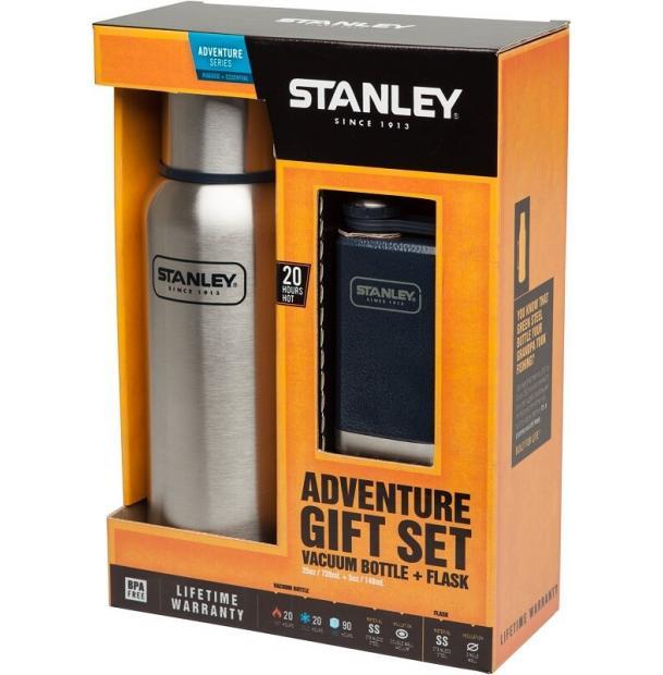 Набор Stanley Adventure 0.75L Stainless Steel + Pocket Flask 0.15L Hammertone Navy