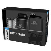 Набор Stanley Adventure Steel Shots + Flask Gift Set Hammertone Black