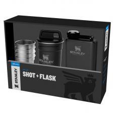 Набор Stanley Adventure Steel Shots + Flask Gift Set Hammertone Black
