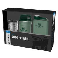 Набор Stanley Adventure Steel Shots + Flask Gift Set Hammertone Green
