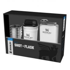 Набор Stanley Adventure Steel Shots + Flask Gift Set Hammertone White