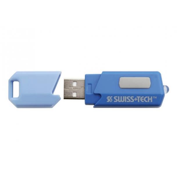 Фонарь-брелок Swiss+Tech USB Rechargeable Flashlight Black/Red