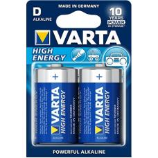Батарейка щелочная VARTA High Energy Alkaline D 2 шт