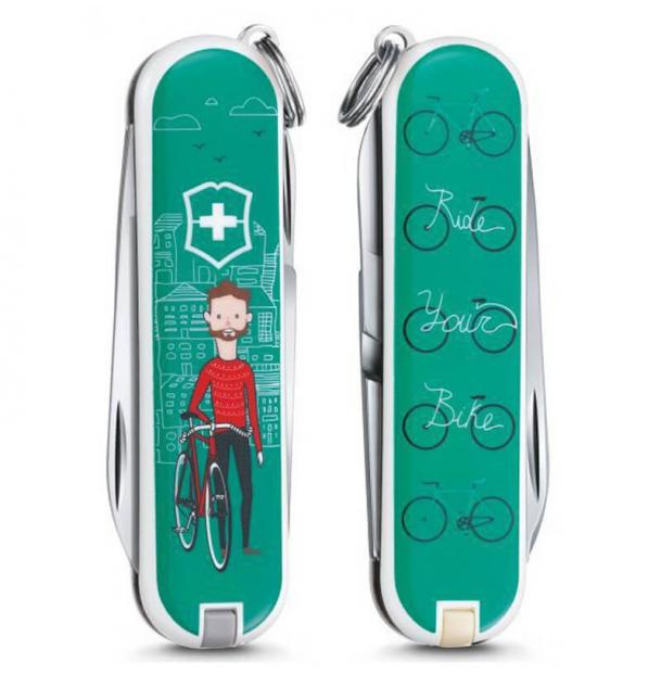 Мультитул Victorinox Classic LE 2015, 58 mm, 7 Functions, Ride your Bike