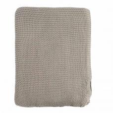 Плед Tkano жемчужной вязки Grey