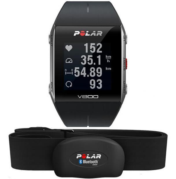 Часы Polar V800 Black HR с датчиком пульса