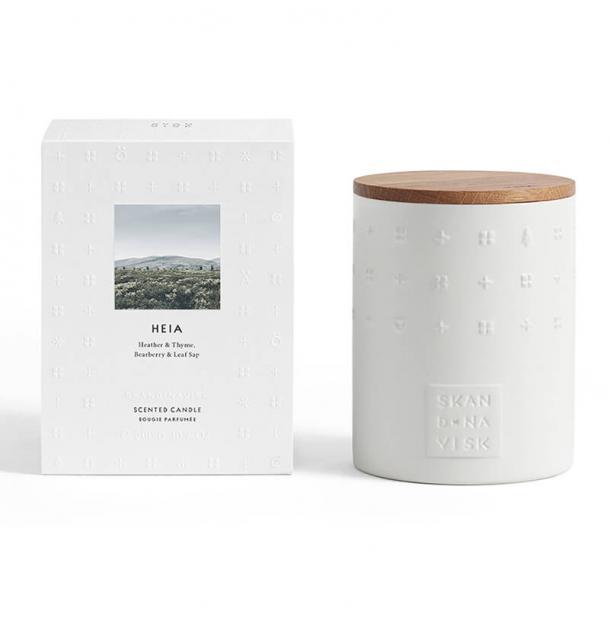 Свеча ароматическая Skandinavisk Heia с крышкой керамика 300g