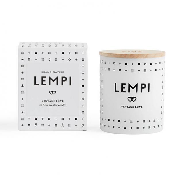 Свеча ароматическая Skandinavisk Lempi с крышкой 190g