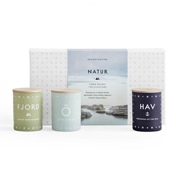 Набор из 3 ароматических свечей Skandinavisk Natur mini по 55g