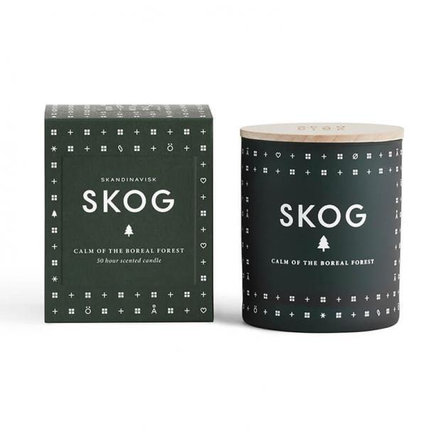 Свеча ароматическая Skandinavisk Skog с крышкой 190g
