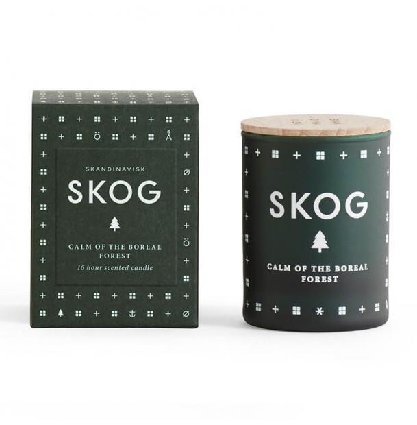 Свеча ароматическая Skandinavisk Skog с крышкой 55g