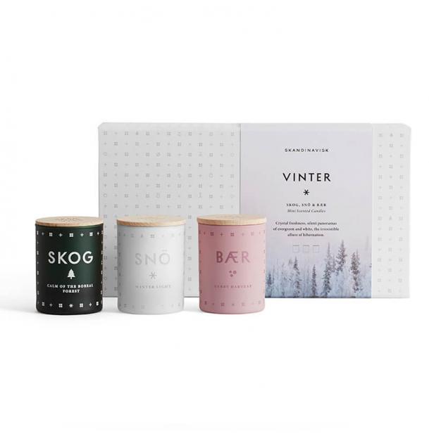 Набор из 3 ароматических свечей Skandinavisk WINTER