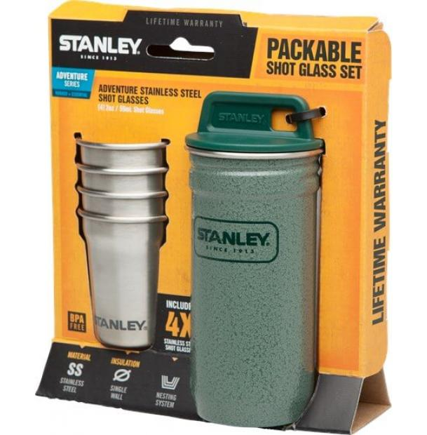 Набор стопок Stanley Adventure 0.59L SS Shot Glass Set Hammertone Green