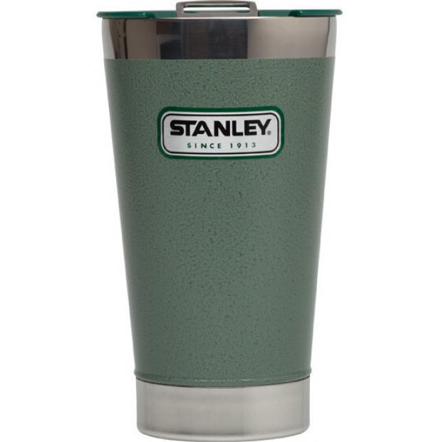 Термокружка Stanley Classic 0.47L Vacuum Pint Hammertone Green