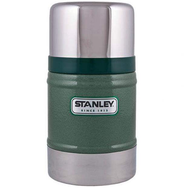 Термос Stanley Classic 0.5L Vacuum Food Jar Hammertone Green