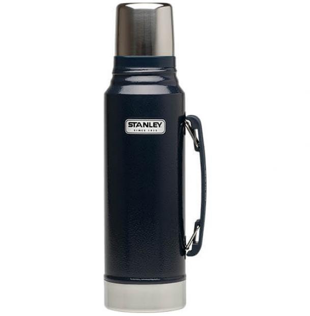 Термос Stanley Classic 1L Vacuum Bottle Hammertone Navy