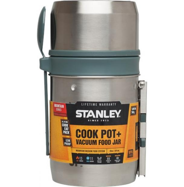 Термос для еды с котелком Stanley Mountain 0.6L Vacuum Food System 10-01700-002