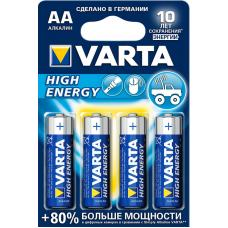 Батарейка щелочная VARTA High Energy Alkaline AA 4 шт