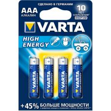 Батарейка щелочная VARTA High Energy Alkaline AAA 4 шт