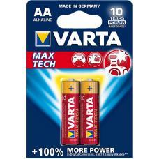 Батарейка щелочная VARTA Max Tech Alkaline AA 2 шт