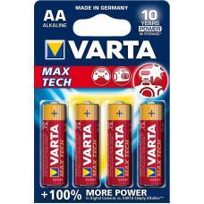 Батарейка щелочная VARTA Max Tech Alkaline AA 4 шт