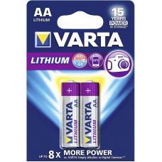 Батарейка литиевая VARTA Professional Lithium AA 2 шт