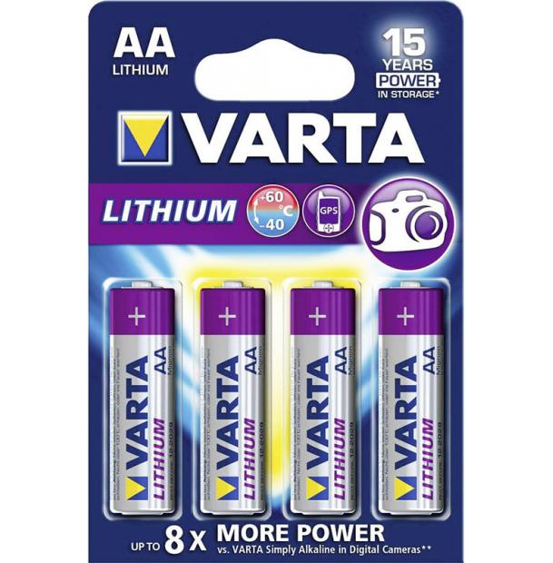 Батарейка литиевая VARTA Professional Lithium AA 4 шт