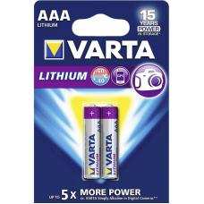 Батарейка литиевая VARTA Professional Lithium AAA 2 шт