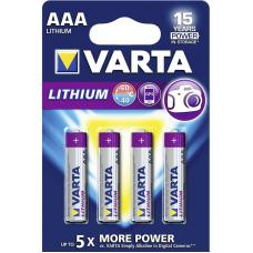 Батарейка литиевая VARTA Professional Lithium AAA 4 шт