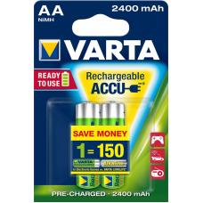 Аккумулятор VARTA R2U Ready To Use Ni-MH AA 2400 mAh 2 шт