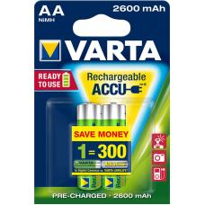 Аккумулятор VARTA R2U Ready To Use Ni-MH AA 2600 mAh 2 шт