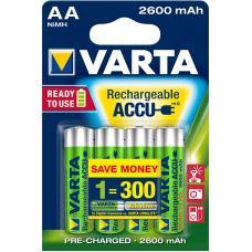Аккумулятор VARTA R2U Ready To Use Ni-MH AA 2600 mAh 4 шт