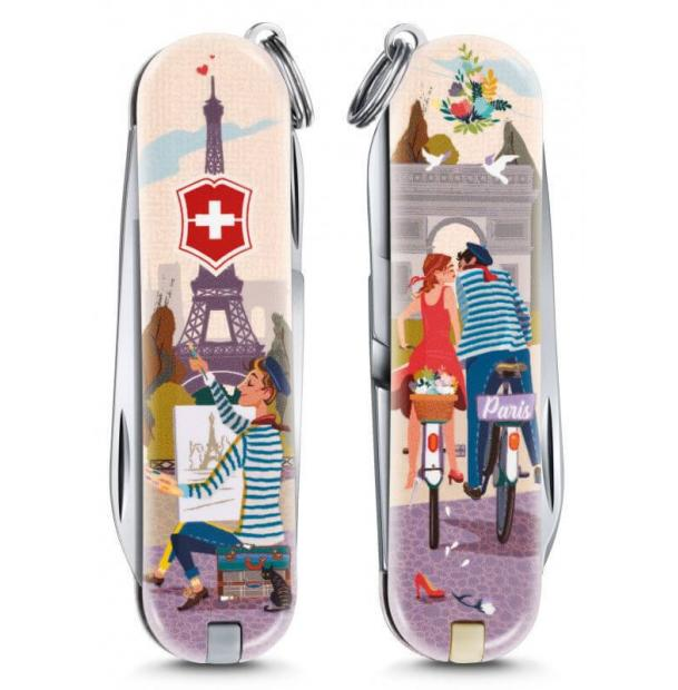Мультитул Victorinox Classic LE 2018, 58 mm, 7 Functions, The City of Love