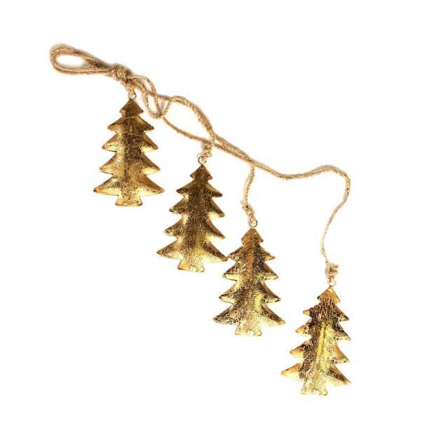 Гирлянда подвесная EnjoyMe Golden Trees, 4 шт.