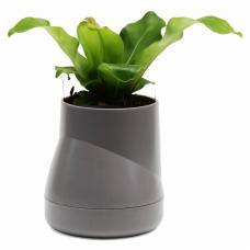 Горшок цветочный Qualy Hill Pot, большой, серый