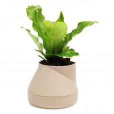 Горшок цветочный Qualy Hill Pot, маленький, кремовый