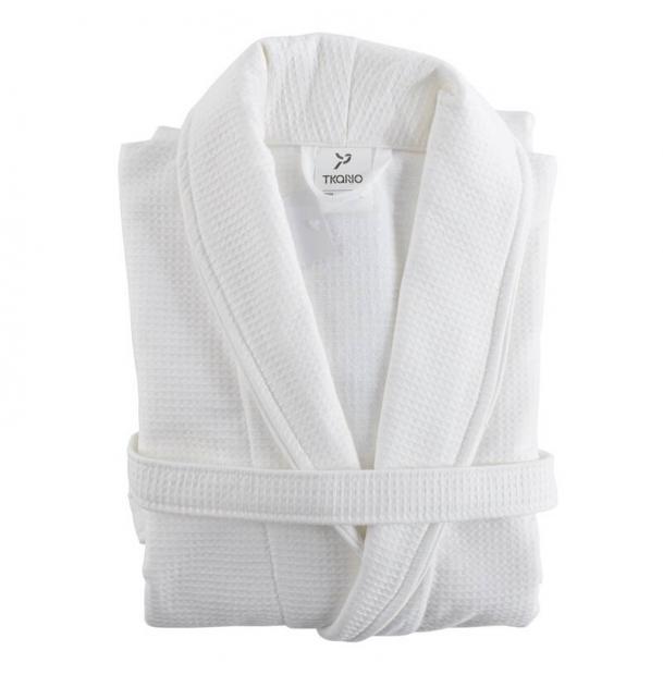 Халат банный Tkano белый Essential L/XL