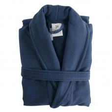 Халат банный Tkano темно-синий Essential L/XL