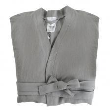 Халат Tkano из умягченного льна серый Essential S