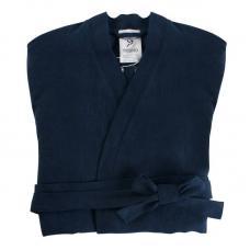 Халат Tkano из умягченного льна темно-синий Essential M