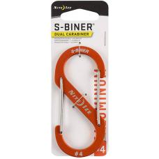 Карабин NiteIze S-Biner Carabiner, 4 Orange