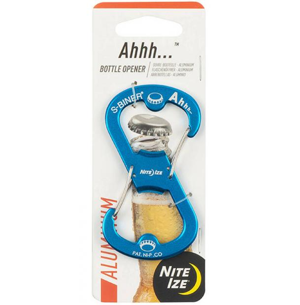 Карабин-открывалка Nite Ize S-Biner Ahhh Aluminium Bottle Opener Blue