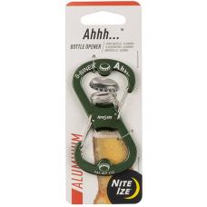 Карабин-открывалка Nite Ize S-Biner Ahhh Aluminium Bottle Opener Olive
