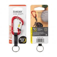 Карабин с блокировкой Nite Ize SlideLock Key Ring, алюминиевый размер 3, красный CSLAW3-10-R6
