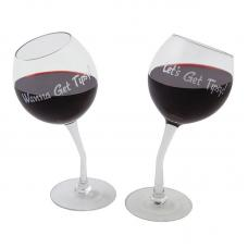 Комплект бокалов BigMouth Tipsy Wine Glass Pair 355 мл