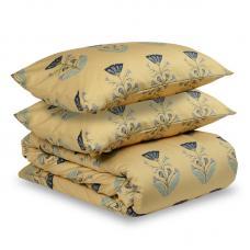 """Комплект постельного белья сатин Tkano 2-спальный """"Летний цветок"""" темно-синий"""