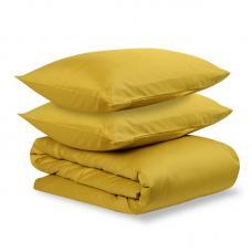 Комплект постельного белья сатин Tkano Essential 1.5-спальный горчичный